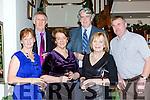 Anne O'Sullivan, Martin O'Sullivan, Ann Buckley, Sean Clancy, Siobhain Clancy and John Buckley enjoying New Years eve in the Royal Hotel  Killarney on Saturday
