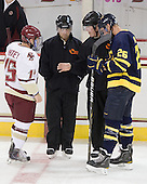 Joe Whitney (BC - 15), Tim Benedetto, Tom Cronin, Adam Ross (Merrimack - 26) - The Boston College Eagles defeated the visiting Merrimack College Warriors 3-2 on Friday, October 29, 2010, at Conte Forum in Chestnut Hill, Massachusetts.