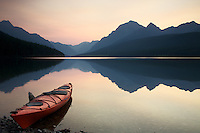 Kayak, Sunrise, Bowman Lake, Glacier National Park
