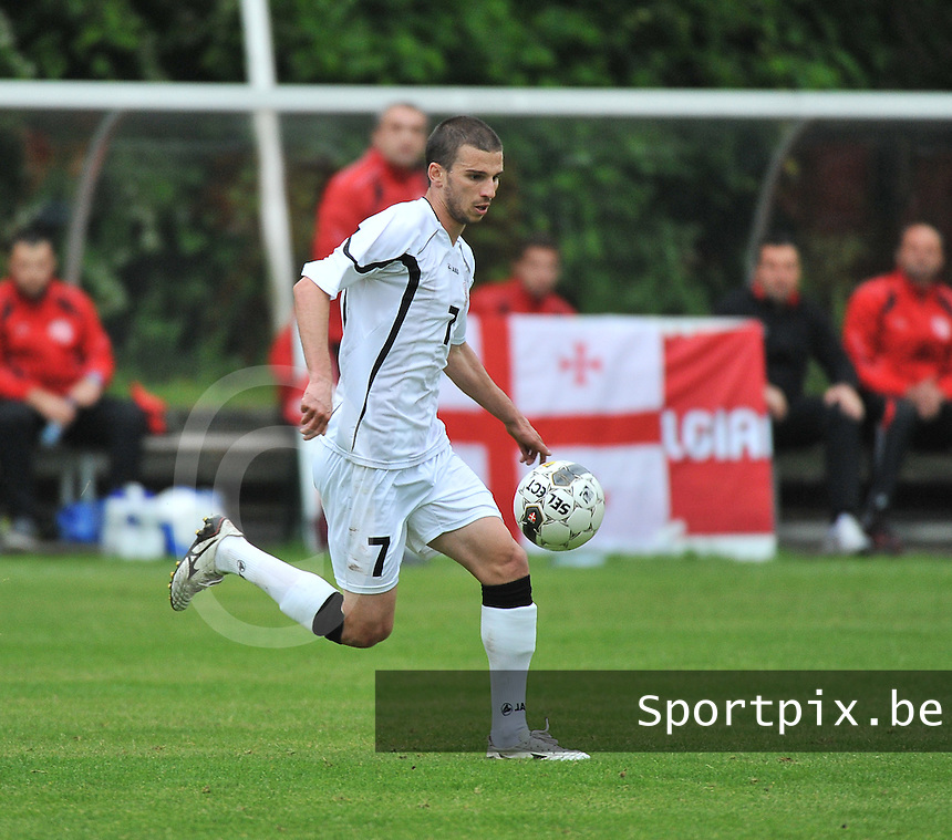 Georgia U19 - Belgium U19 : Guram Samushia<br /> foto DAVID CATRY / Nikonpro.be