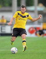 Fussball, 2. Bundesliga, Saison 2011/12, Testspiel SG Dynamo Dresden - Slovan Liberec, Pirna. Dresdens Sascha Pfeffer am Ball.