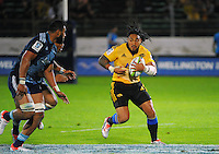 Ma'a Nonu in action during the Super Rugby match between the Hurricanes and Blues at FMG Stadium, Palmerston North, New Zealand on Friday, 13 March 2015. Photo: Dave Lintott / lintottphoto.co.nz