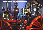 Drake fire engine, built for oil fires, 1868, Drake Well Museum, Titusville, Venango Co., PA