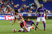 Harrison, NJ - Wednesday Aug. 03, 2016: Sixto Betancourt, Felipe Martins during a CONCACAF Champions League match between the New York Red Bulls and Antigua at Red Bull Arena.