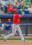 3 March 2016: Washington Nationals outfielder Michael Taylor in action during a Spring Training pre-season game against the New York Mets at Space Coast Stadium in Viera, Florida. The Nationals defeated the Mets 9-4 in Grapefruit League play. Mandatory Credit: Ed Wolfstein Photo *** RAW (NEF) Image File Available ***