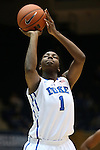 23 November 2012: Duke's Elizabeth Williams. The Duke University Blue Devils played the Valparaiso University Crusaders at Cameron Indoor Stadium in Durham, North Carolina in an NCAA Division I Women's Basketball game. Duke won the game 90-45.