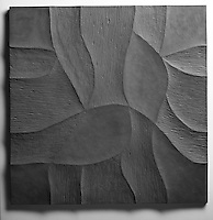 Giovanni Barbieri 24x24 inch Shades carved tile in Iron Grey.