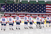 Ryan McGrath (UML - 10), Stephen Buco (UML - 11), Josh Holmstrom (UML - 12), Adam Chapie (UML - 13), Joseph Pendenza (UML - 14), Doug Carr (UML - 31), Chris Maniccia (UML - 17), A.J. White (UML - 18) - The Northeastern University Huskies defeated the University of Massachusetts Lowell River Hawks 4-1 (EN) on Saturday, January 11, 2014, at Fenway Park in Boston, Massachusetts.