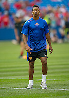 July 16, 2010 Nani No.17 of Manchester United  during an international friendly between Manchester United and Celtic FC at the Rogers Centre in Toronto.