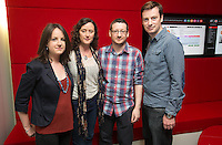 ***NO FEE PIC *** 05/06/2014 (L to R) Niamh Heery Director of Harmanli: Trapped on the Fringe of Freedom, Roisin Loughrey director of The Room Alan Whelan & Eoghan Rice from Food Not Fuel during the launch of the ICCL (Irish Council for Civil Liberties) Human Rights Film Awards Shortlist at the IFCO in Smith field, Dublin. Photo: Gareth Chaney Collins