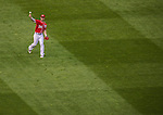 6 September 2014: Washington Nationals outfielder Bryce Harper in action against the Philadelphia Phillies at Nationals Park in Washington, DC. The Nationals fell to the Phillies 3-1 in the second game of their 3-game series. Mandatory Credit: Ed Wolfstein Photo *** RAW (NEF) Image File Available ***