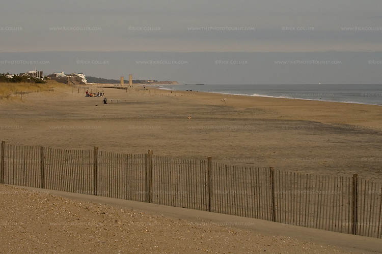 The beach is nearly deserted in winter at Rehoboth Beach, Delaware, USA.