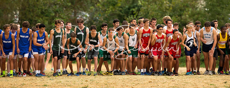 Photography of the Woodlawn School Men's Cross Country Team competing Metrolina Christian in Indian Land, NC.<br /> <br /> Charlotte Photographer - PatrickSchneiderPhoto.com