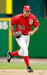 21 May 2006: Nick Johnson, first baseman for the Washington Nationals, moves to cover his base during a game against the Baltimore Orioles at RFK Stadium in Washington, DC. The Nationals defeated the Orioles 3-1 to take 2 of 3 games in their first inter-league series...Mandatory Photo Credit: Ed Wolfstein Photo..
