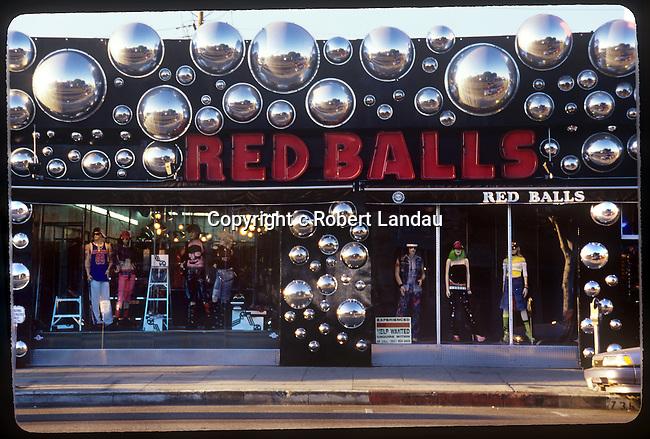 Red Balls boutique exterior Melrose Ave. circa 1980's