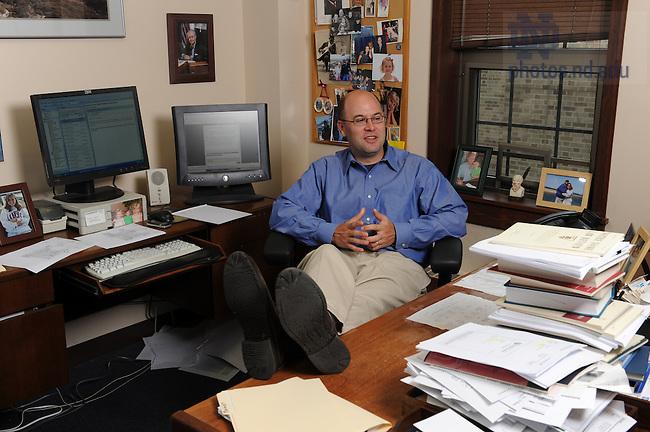 Law School professor Rick Garnett in his office