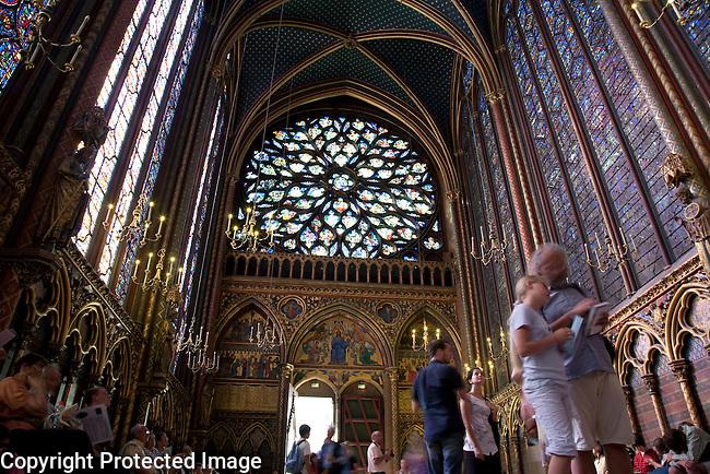 Upper Chapel in the Ste Chapelle; Paris; France; Europe