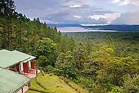 Lake Arenal from the Arenal Observatory Lodge which was originally built by the Smithsonian Institute for scientists to use to observe the Arenal Volcano, Costa Rica
