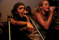 """Maral singing with the Kabul based band """"White City"""" on a tour of Tajikistan."""