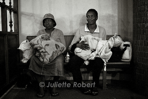 Martha, on the right, has spent a year in the Church and had her baby two weeks before.<br /> April 2009