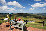 View of Zululland hills from Hill top restcamp, Hluhluwe, KwaZulu Natal, South Africa