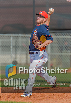 20 March 2015: Houston Astros pitcher Brad Peacock works in the bullpen prior to a Spring Training game against the Washington Nationals at Osceola County Stadium in Kissimmee, Florida. The Nationals defeated the Astros 7-5 in Grapefruit League play. Mandatory Credit: Ed Wolfstein Photo *** RAW (NEF) Image File Available ***