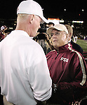 Bobby Bowden welcomes Boston College's head coach .Tom O'Brien to the ACC by beating his Eagles 28-17 in Chestnut Hill September 17, 2005. (Mark Wallheiser/TallahasseeStock.com)