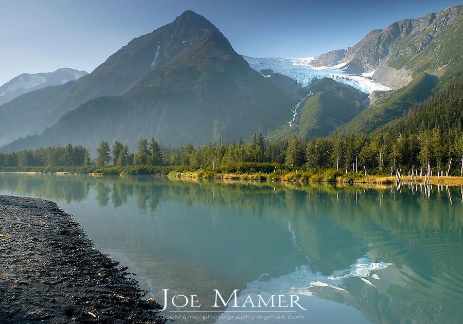 Explorer Glacier and wilderness near Portage, Alaska, USA