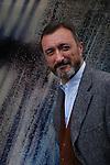 Spanish author Arturo Perez Reverte in Paris to promote his book.