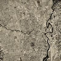 historical aerial photograph Napa California 1958