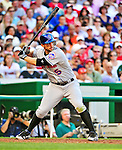 3 July 2010: New York Mets' third baseman David Wright in action against the Washington Nationals at Nationals Park in Washington, DC. The Nationals rallied in the bottom of the 9th to defeat the Mets 6-5 in the third game of their 4-game series. Mandatory Credit: Ed Wolfstein Photo
