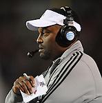Texas A&amp;M Coach Kevin Sumlin looks on against Mississippi in Oxford, Miss. on Saturday, October 6, 2012. (AP Photo/Oxford Eagle, Bruce Newman)..
