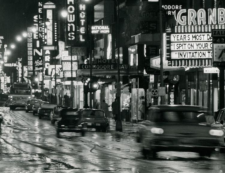 1963 February 12...Granby STreet looking South at night...NEG#.NRHA# 1001..