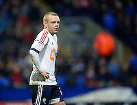 BOLTON, ENGLAND - Saturday, January 26, 2013: Bolton Wanderers' Jay Spearing in action against Everton during the FA Cup 4th Round match at the Reebok Stadium. (Pic by David Rawcliffe/Propaganda)