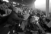 Pix:Michael Steele/SWpix...Fartown. Rugby League. From the book 'When Push Comes to Shove'....COPYRIGHT PICTURE>>SIMON WILKINSON..Searching for the right tune, Fartown.