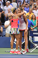 FLUSHING NY- SEPTEMBER 10: Angelique Kerber reacts after winning the finals in her match with Karolina Pliskova during the womens finals on Arthur Ashe Stadium at the USTA Billie Jean King National Tennis Center on September 10, 2016 in Flushing Queens. Photo by MPI04/MediaPunch