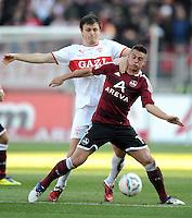 FUSSBALL   1. BUNDESLIGA  SAISON 2011/2012   10. Spieltag 1 FC Nuernberg - VfB Stuttgart         22.10.2011 William Kvist (li, VfB Stuttgart)  gegen Robert Mak (1 FC Nuernberg)