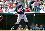 6 September 2009: Minnesota Twins' infielder Brendan Harris in action against the Cleveland Indians at Progressive Field in Cleveland, Ohio. The Indians defeated the Twins 3-1 to take the rubber match of their three-game weekend series. Mandatory Credit: Ed Wolfstein Photo