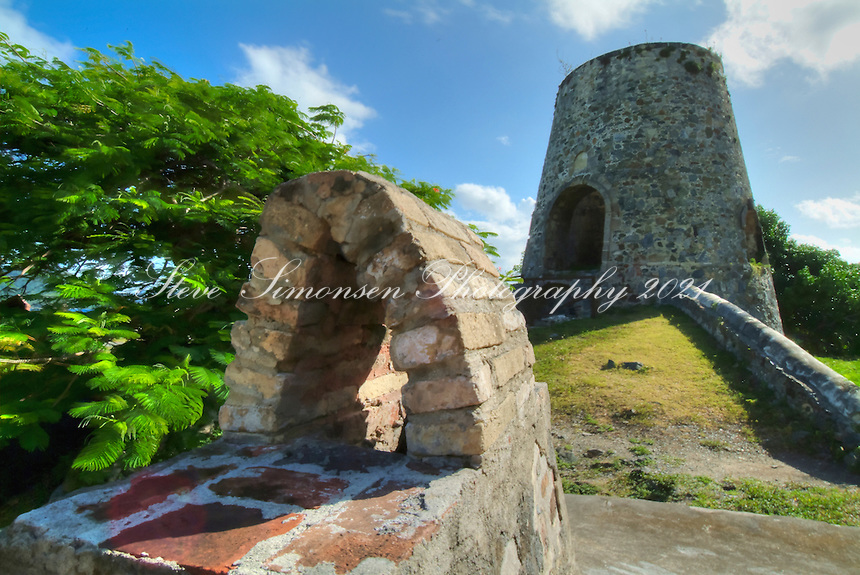 Annaberg Ruins.Virgin Islands National Park.St John US Virgin Islands