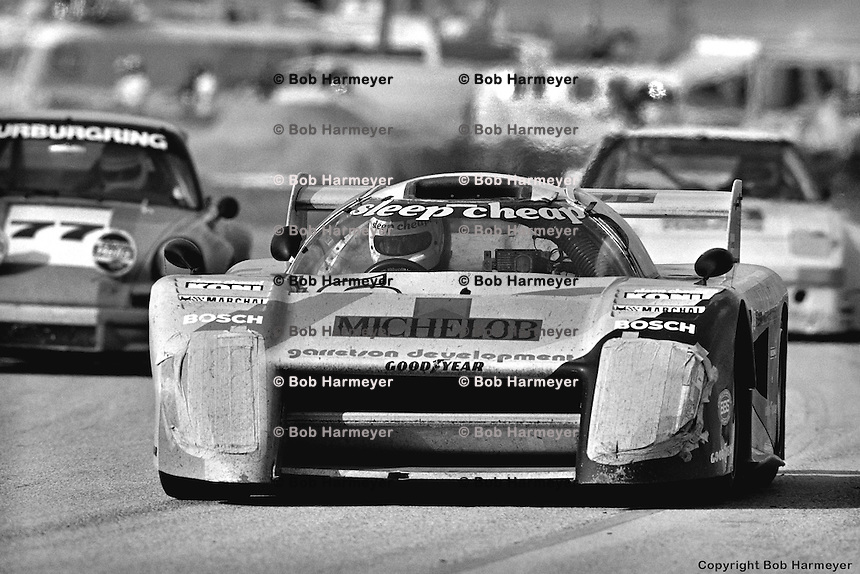 Bobby Rahal drives the Garretson Development March 82G during the 1982 12 Hours of Sebring. Rahal qualified the car on pole and, with co-drivers Jim Trueman and Maurico DeNarvaez, brought the car home in 2nd place.