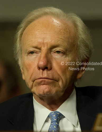 United States Senator Joseph Lieberman (Independent Democrat of Connecticut), listens as General John R. Allen, USMC, Commander, International Security Assistance Force and Commander, United States Forces Afghanistan, testifies on the situation in Afghanistan before the U.S. Senate Armed Services Committee on Capitol Hill in Washington, D.C. on Thursday, March 22, 2012..Credit: Ron Sachs / CNP