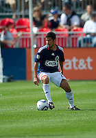 August 07 2010 Chivas USA midfielder Paulo Nagamura #26 in action during a game between Chivas USA and Toronto FC at BMO Field in Toronto..Toronto FC won 2-1.
