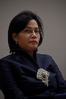 Sri Mulyani Indrawati, managing director of the World Bank - 2012<br /> <br /> London, 07/02/2012. Today LSE (London School of Economics) presented a public lecture called &quot;Crises and Revolutions: the reshaping of international development&quot; hosted by Sri Mulyani Indrawati (Managing director of the World Bank and former Indonesia's Minister of Finance). Chair of the event was Robert Wade (Professor of Political Economy and Development at the Development Studies Institute - DESTIN, LSE).