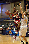 23 MAR 2012:  Sequoyah Griffin(10) right of Shaw University is defended by Kari Daugherty (44) of Ashland University, right, during the Division II Womens Basketball Championship held at Bill Greehey Arena in San Antonio, TX.  Shaw University defeated Ashland University 88-82 for the national title.  Rodolfo Gonzalez/ NCAA Photos