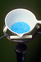 HEATING CUPRIC SULFATE PENTAHYDRATE SOLID<br /> CuSO4*5H2O (Copper II Sulfate)<br /> Heated CuSO4<br /> 5H2O loses 2H2O at 30 deg C., 2 more H2O at 110 deg C. and becomes anhydrous by 250 deg C. changing color from blue to white.