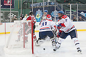 Braden Pimm (NU - 14), Mike Szmatula (NU - 19), Doug Carr (UML - 31), Zack Kamrass (UML - 27), Josh Holmstrom (UML - 12) - The Northeastern University Huskies defeated the University of Massachusetts Lowell River Hawks 4-1 (EN) on Saturday, January 11, 2014, at Fenway Park in Boston, Massachusetts.