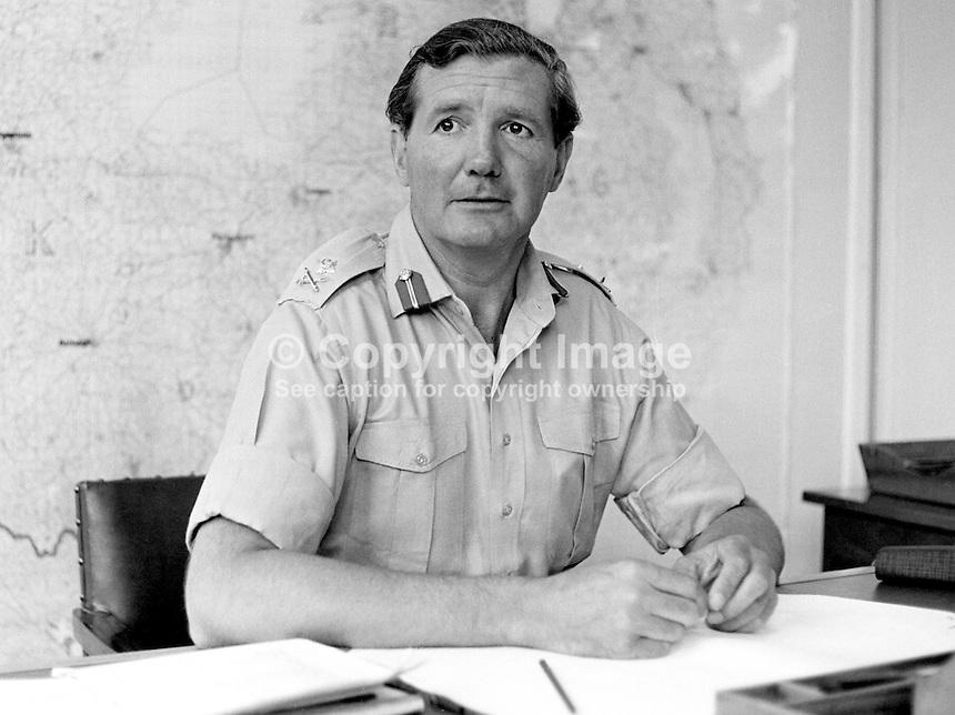 Major General Robert Ford Commander Land Forces N Ireland