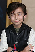 HOLLYWOOD, LOS ANGELES, CA, USA - DECEMBER 09: Aidan Gallagher  arrives at the World Premiere Of New Line Cinema, MGM Pictures And Warner Bros. Pictures' 'The Hobbit: The Battle of the Five Armies' held at the Dolby Theatre on December 9, 2014 in Hollywood, Los Angeles, California, United States. (Photo by Xavier Collin/Celebrity Monitor)