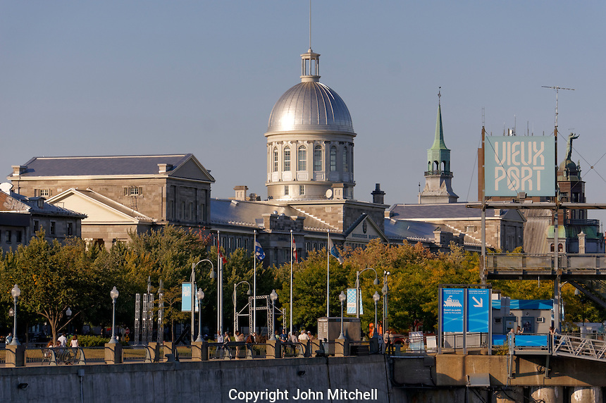 Old Port of Montreal and Bonsecours Market building, Montreal, Quebec, Canada