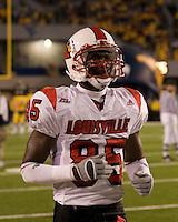 08 November 2007: Louisville wide receiver Harry Douglas..The West Virginia Mountaineers defeated the Louisville Cardinals 38-31 on November 08, 2007 at Mountaineer Field, Morgantown, West Virginia. .